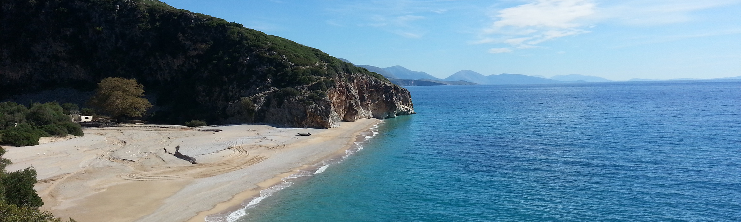 A small beach on Albania's southern coast