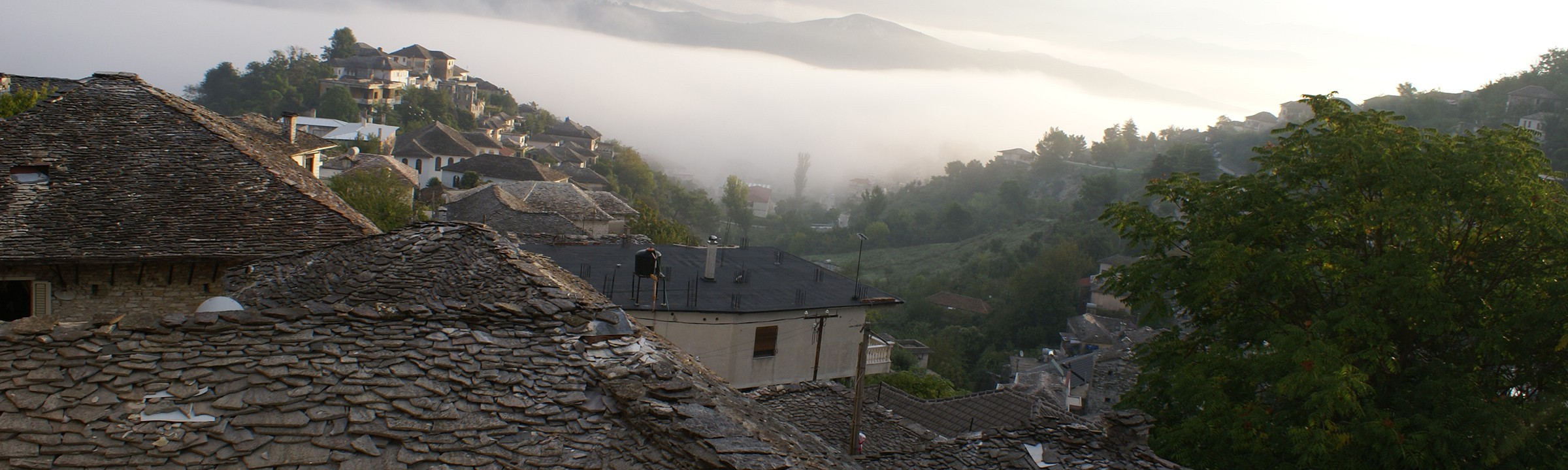Mornings are magic in Gjirokastra