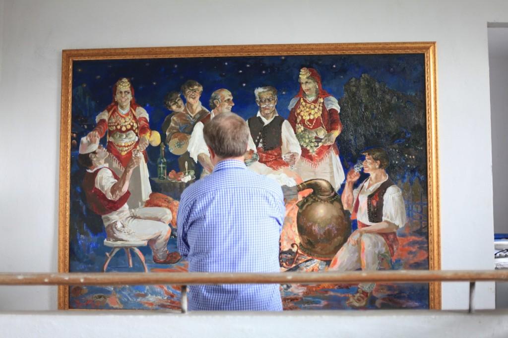 Folk painting by Robert Permeti